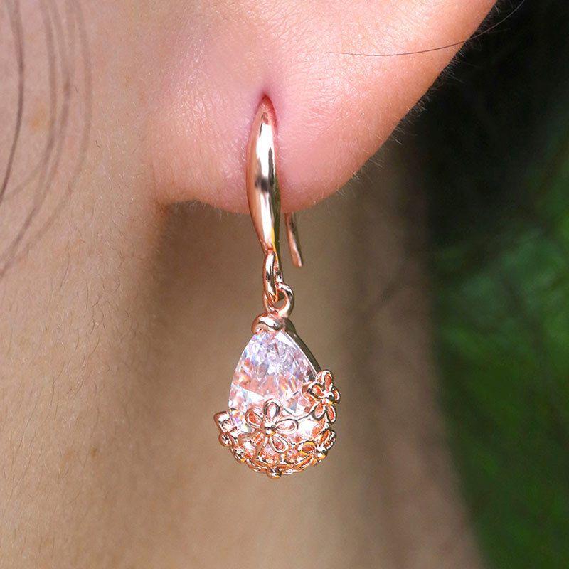 Creative-Wasser-Tropfen Ausgehöhlte Kristall Strass Designer Ohrringe lange Partei-Ohrringe 925 Sterling Silber Jelwelry Valentine Geschenk