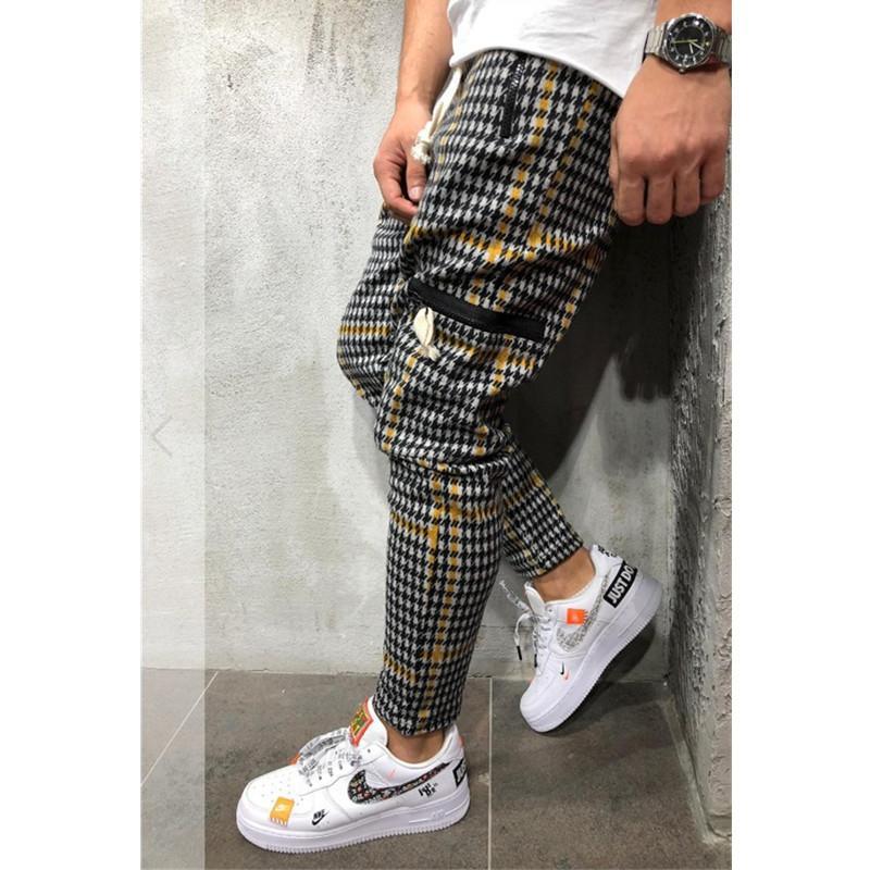 Men's Twill Fashion Jogger Pants New Stripes Urban Straight Casual Pants Slim Fitness Long Pants Hip hop