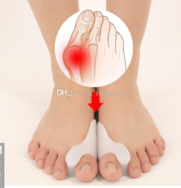 Ücretsiz nakliye Silikon Burun ayırıcı sağlık ayak tedavisi halluks valgus ortez ayak parmaklarını valgus düzeltici
