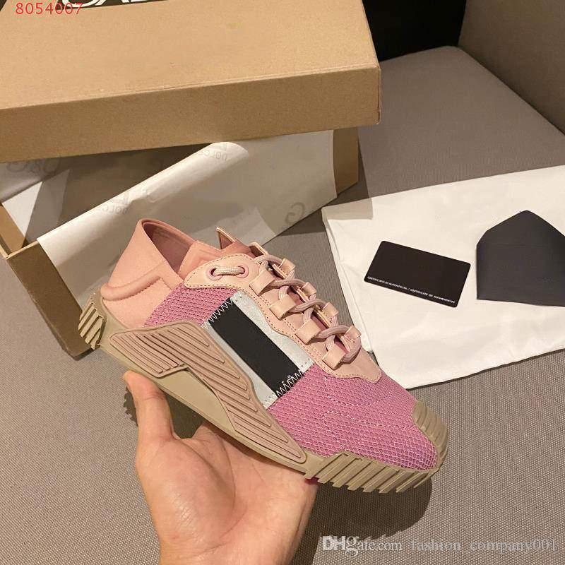 2020 Calçado desportivo respirável luxo projeto luminosa respirável malha e couro combinado com moda casual sapatos caros arrefecer tênis