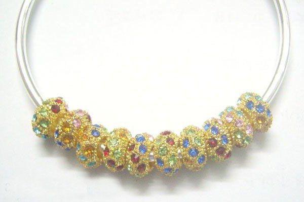 30 шт. / Лот Позолоченный европейский хрустальный сплав свободных шариков для DIY браслет ожерелье ювелирные изделия подарок ремесло C029