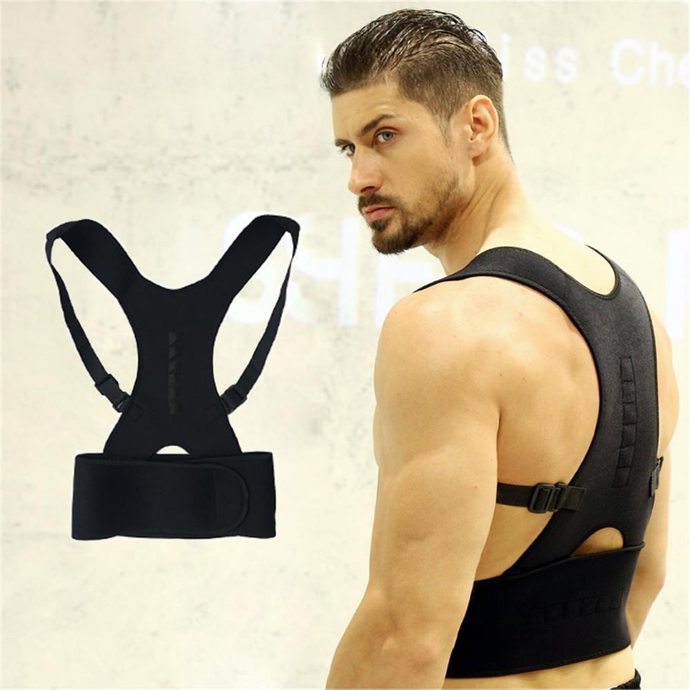 Lightweight Belt Posture Faja Lumbar Corrector Support Magnetic Back Shoulder Brace Belt Adjustable Men Women Soutien Dos