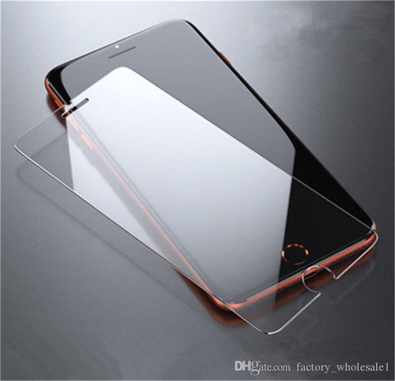 For Iphone 11 Pro X XR XS MAX Tempered Glass Clear Screen Protector for LG Stylo 4 Samsung Galaxy J7 J5 Prime