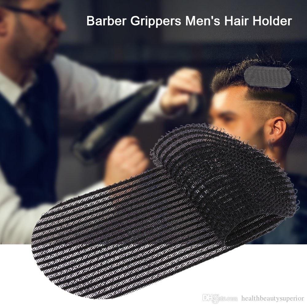 2 قطع الأسود الشعر القابض التشذيب الشعر ملصق التصميم قطع تقليم الحلاق الصالح الصالون الرجال حامل الشعر