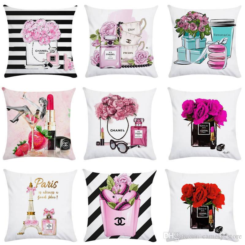 Astounding New Small Perfume Bottle Series Peach Skin Hump Pillowcase Printing Home Pillowcase Fashion Furniture Hotel Car Seat Cover Baby Pillow Case Travel Pdpeps Interior Chair Design Pdpepsorg