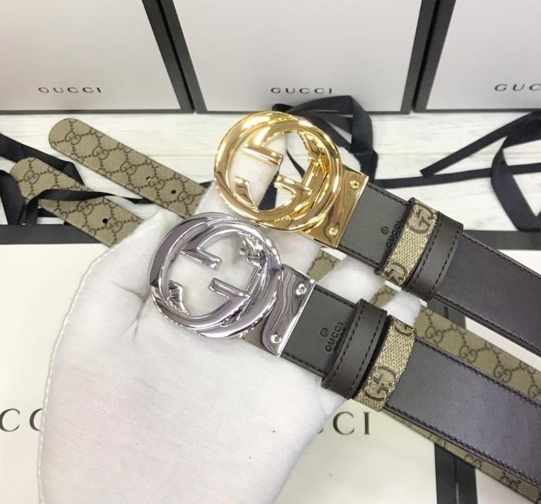 2020 Fashion Belt Men Designer Belt Silver Gold Black Luxury Long Automatic Leather Genuine Real Man Brand