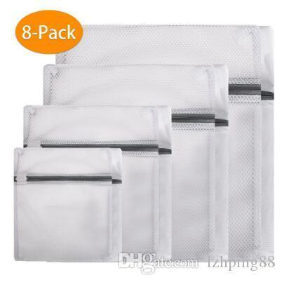 섬세한 란제리 양말 속옷 브라 가방 기계 보호 그물 메쉬 의류 가방에 대한 8PCS 지퍼가 달린 메쉬 세탁 세척 가방