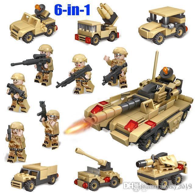 6 1 Ordu Tank Askeri Araçlar Silahlar Askerler Brinquedo Menina Oyuncak For Children in
