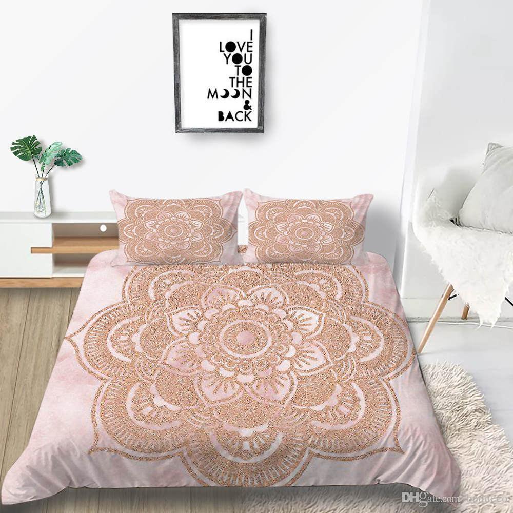 Floreale Bedding Set Ragazze dolce romantico alla moda Rosa Copripiumino King Size e mezzo Doppio completa Double Single copriletto con federa