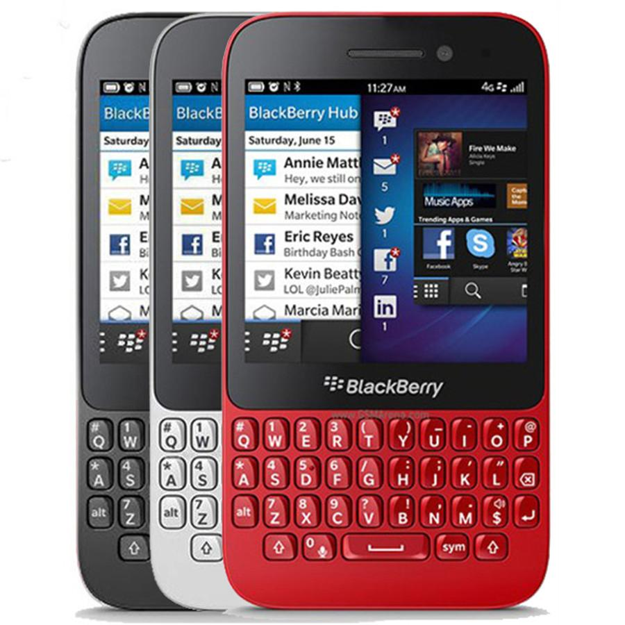1pcs remodelado Original Blackberry Q5 3.1 polegadas Dual Core de 2 GB RAM de 8GB ROM 5.0MP Câmera Teclado QWERTY Desbloqueado 4G LTE entregas DHL livre