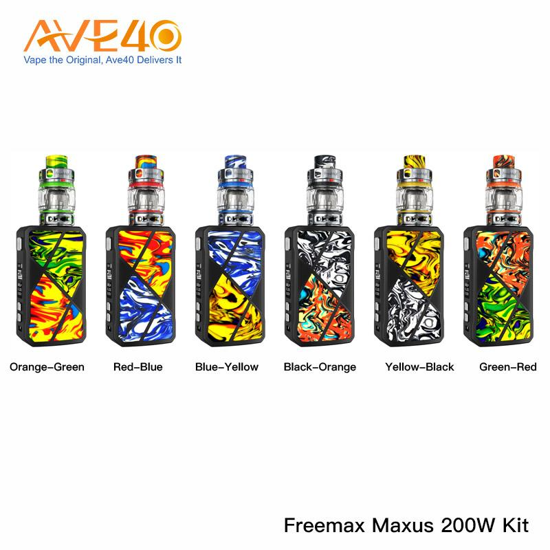 Original Freemax Maxus 200W Kit With Maxus Pro Tank US Edition Kit 904L M2 Mesh Coils