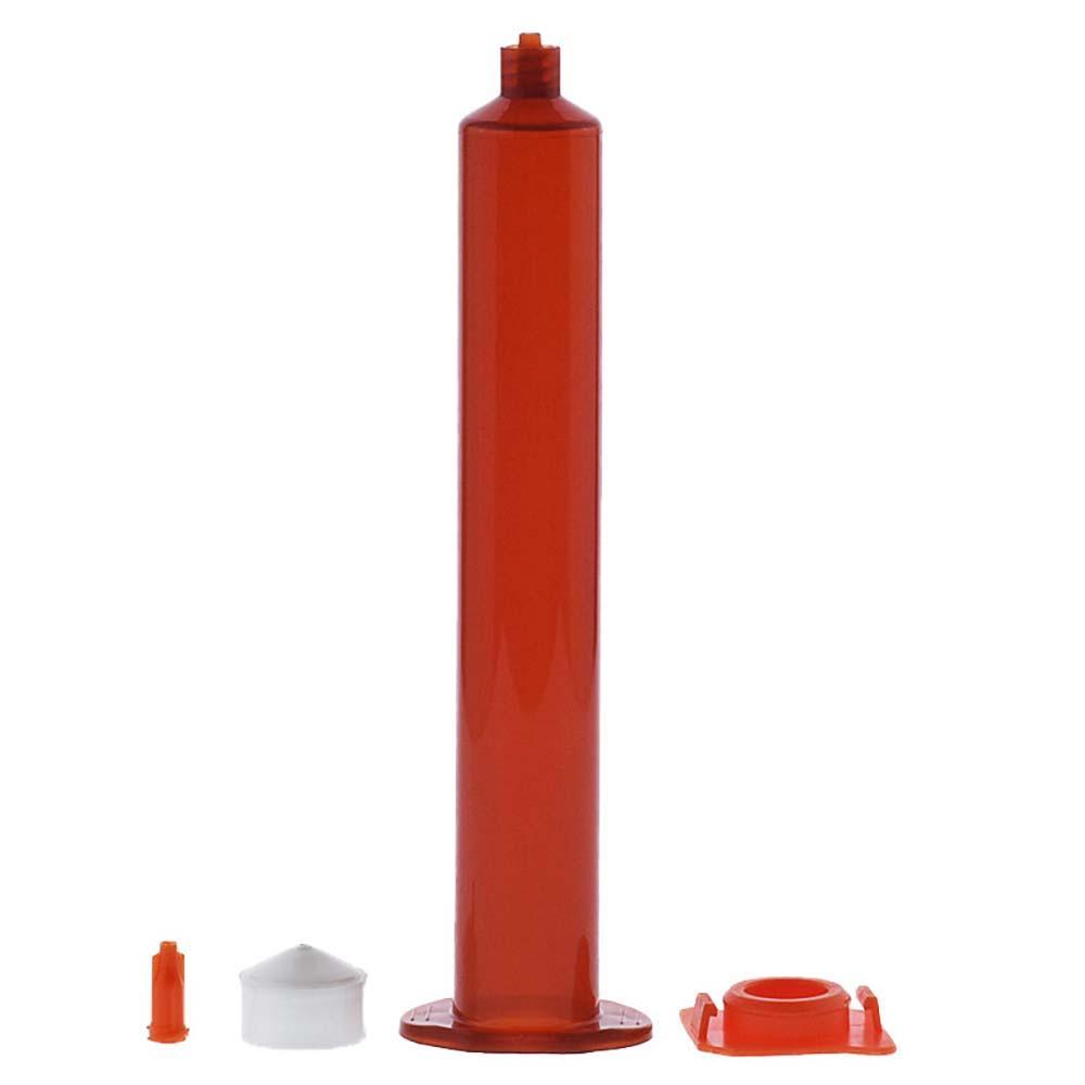 Luftverteilungs 55cc UV Bernstein Klebstoff Spritzenzylinder Hülse, der Kolben, Endkappen, zylinder