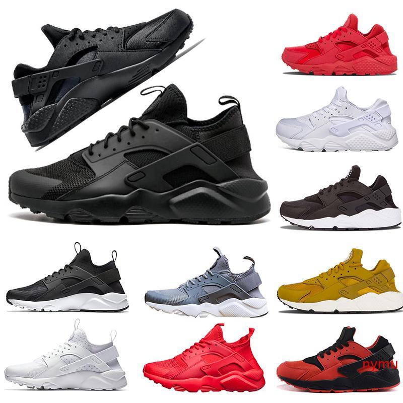 Laufschuhe Hurache Schuhe der Frauen 1.0 4.0 Triple-schwarze Sportschuhe weiß rot off Gold Herren Trainer Frauen Turnschuhe Designer laufen