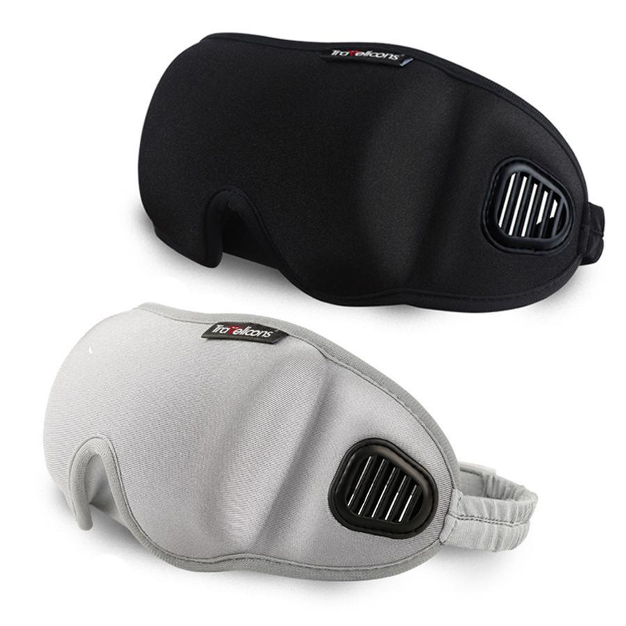 3D Göz Kapağı Uyku Maskesi Siperliği Seyahat Ofis Uyku Kadın Erkek Gözlük Nefes Yumuşak Ayarlanabilir Eyepatch Siyah Körü Körüne RRA1868