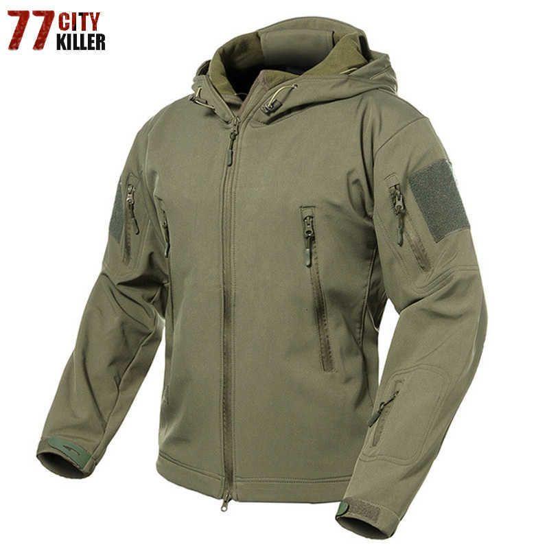 Novos 2018 Tática Militar Homens jaqueta Plus Size 3XL impermeável Soft Shell Cobra Camouflage Jacket Men Army Tactical Jackets Mens S191019
