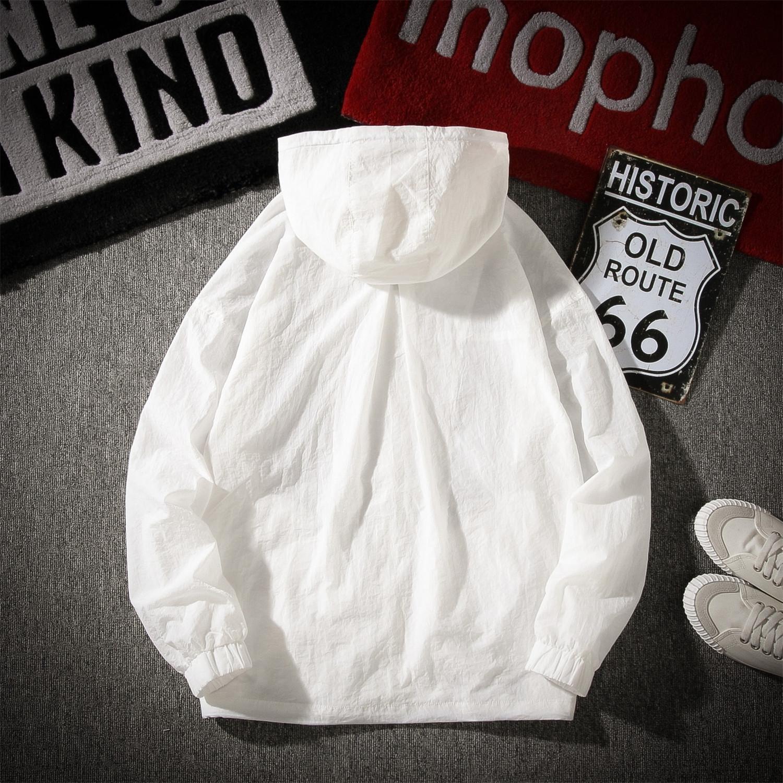 9PKnh 20 crème solaire pour hommes Vêtements clothesjacket jeunesse manteau de style clothesthin été plage loisirs veste solide hommes de couleur crème solaire