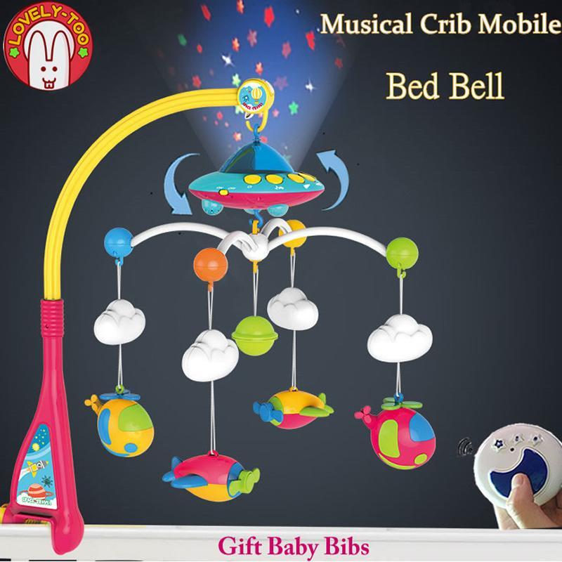 campana colgante de cuna m/óvil musical infantil encantadora para beb/é Juguetes para beb/és pl/átano de dibujos animados