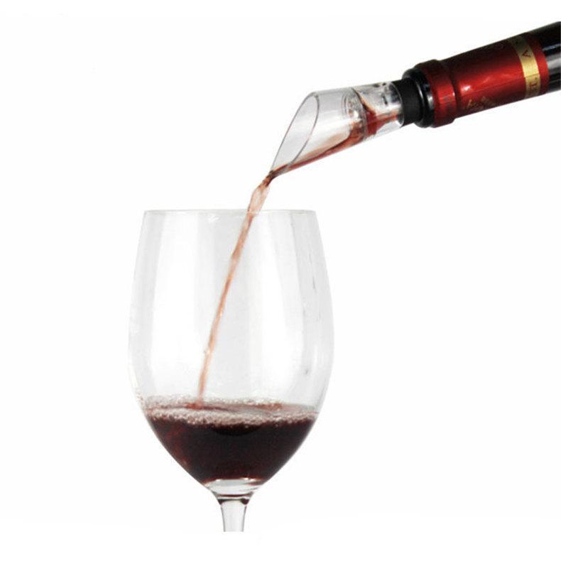 Kırmızı şarap Havalandırıcı Plastik Akrilik şarap Pourer Kauçuk şişe tıpa Decanter bar araçları ile emzik dökün tercih