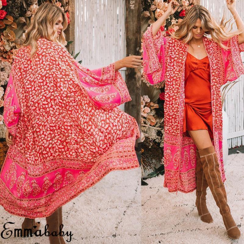 3 Renk Seksi Bikini Cover Up Kadınlar Plajı Elbise 2020 Mayo Şifon Artı boyutu Mayo Maxi Elbise Bandaj Kimono Hırka