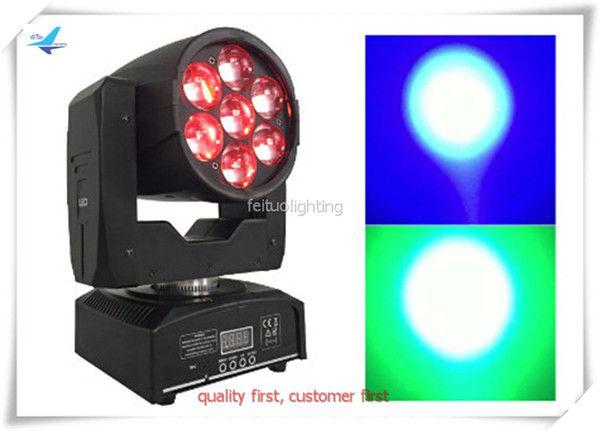 4 pz / lotto 7x12w mini led testa mobile rgbw led moving head zoom per dj party show luce di scena di alta qualità