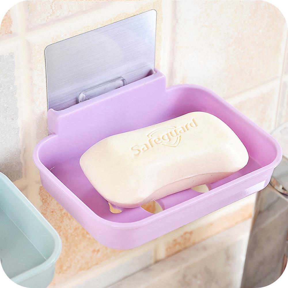 immagazzinaggio della famiglia soap box multifunzione Bagno Doccia Soap Box del piatto di stoccaggio lamiera vassoio del supporto della cassa del sapone Holder pratico # 30