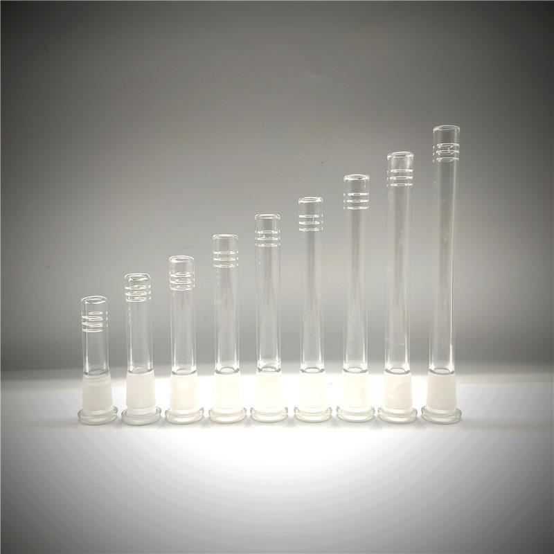 Popular Venda Hot Glass Downstem 14-18 Feminino Lo Pro Difuso Downstem com 6 Cortes têm diferentes tamanho para Bongs gg
