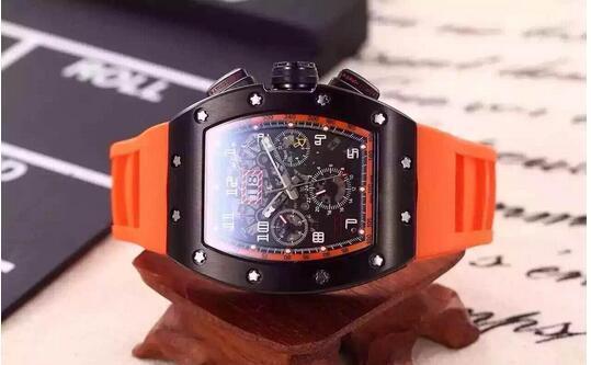 Relógio suíço Preto PVD Máquina mecânica automática Relógios De Luxo RM011 Felipe Massa