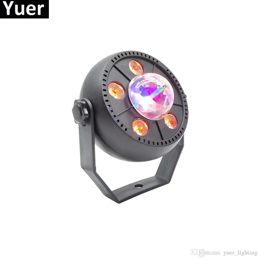 11W RGB LED sfera di cristallo magica della fase del LED Lamp del DJ KTV del partito della discoteca della luce laser Luci suono Telecomando IR del proiettore di Natale