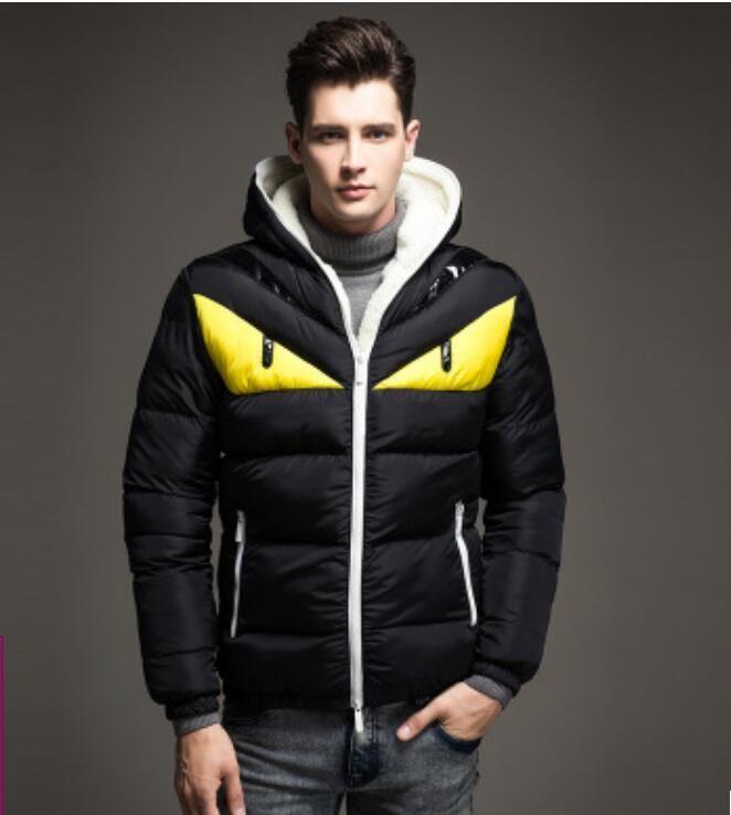 hommes gros- manteau d'hiver de mode doudoune nouveau petit monstre s'épaissir hommes réchauffent l'hiver veste mâle vers le bas parkas