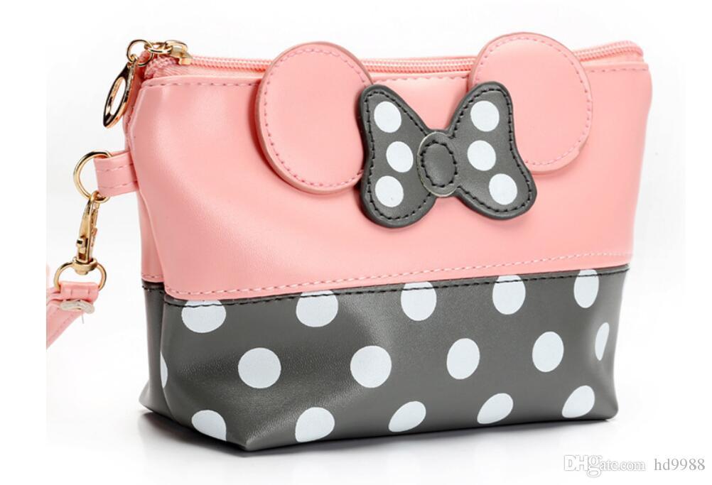 New Mickey Butterfly-Knot Borsa cosmetica da indossare Borsa Lovely Mickey Borsa cosmetica Borsa impermeabile Polvere lavabile Borsa cosmetica da viaggio DHL