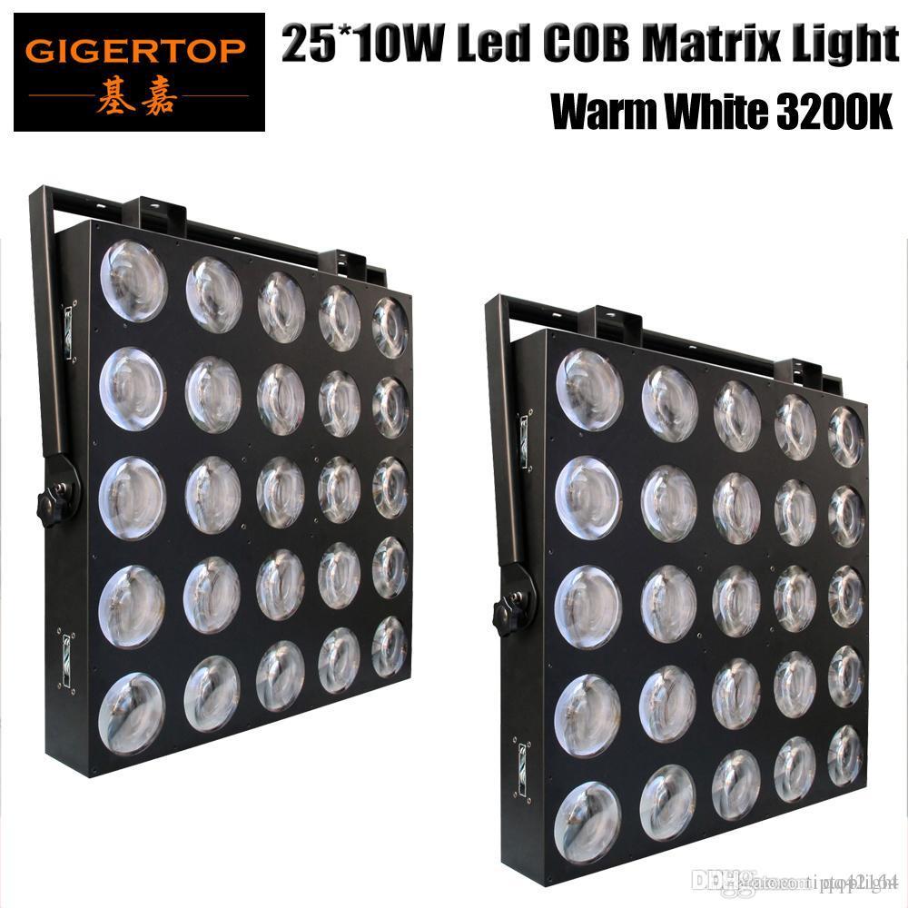 2 Unidades 5X5 25X10W Matrix LED Light Painel de LED Matrix Disco Light Blinder Pixel 10W COB Branco Led DJ Efeito de fundo de apoio