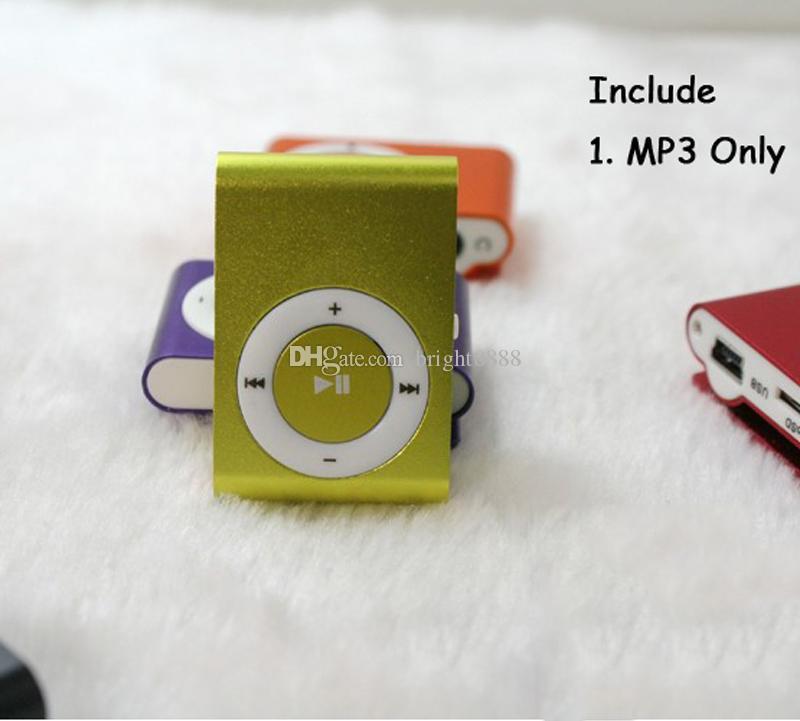Fashion Mini Cheap Clip Digital Mp3 Music Player USB with SD card Slot black silver mixed colors DHL Free
