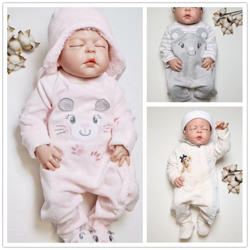 Kavkas Rompers Winter Newborn Baby Warm Thick Velvet Jumpsuits For Bebe Girls Toddler Long Sleeved Overalls Jumper 0-24m Q190520