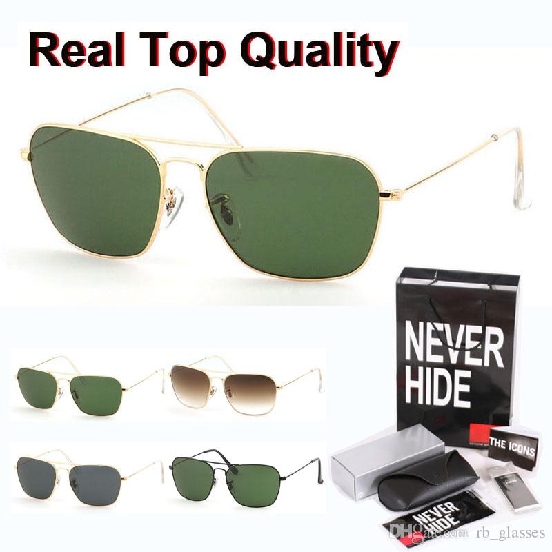 Best quality 3136 Brand Sunglasses for Men Women Alloy Frame gradient Glass Lens oculos de sol with original box, accessories, everything!