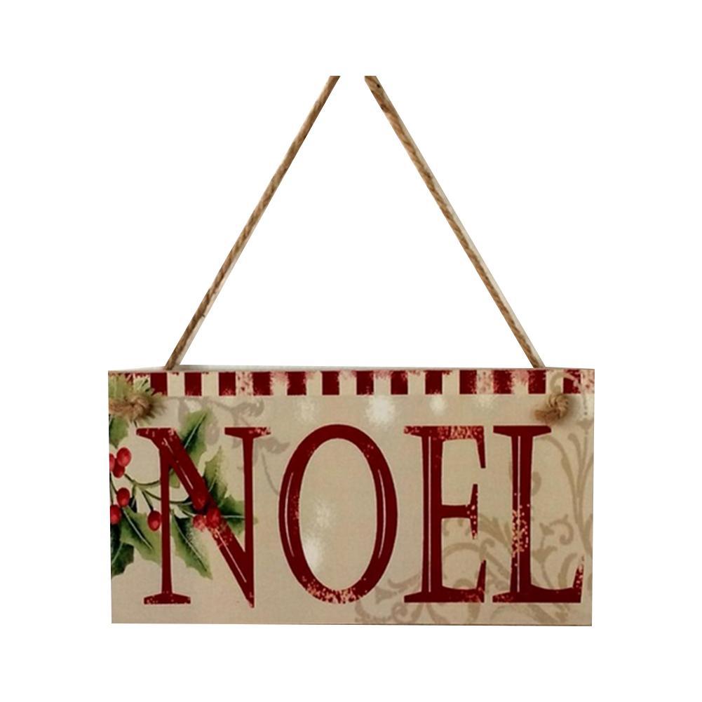 Creativo Porta Natale Hanging Segno di Buon Natale carino legno placca Consiglio della decorazione della casa di Noel colorato