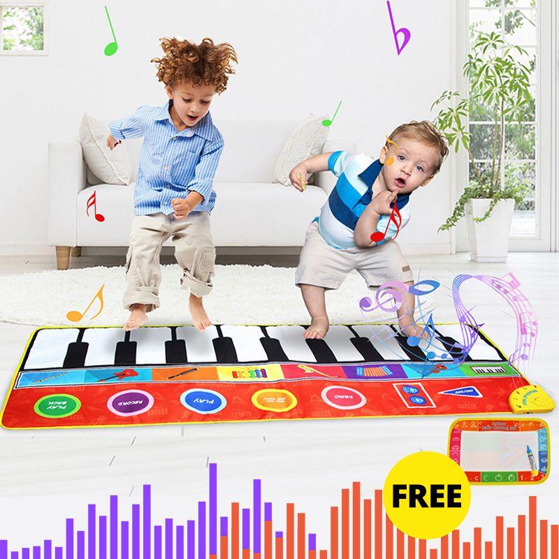 Çocuklar Y200428 için 8 Stil Enstrüman Ses Müzik Mat Eğitim Oyuncaklar ile 148X60CM Büyük Boyut Müzik Piyano Mats Halılar Dokunmatik Oynat Mat