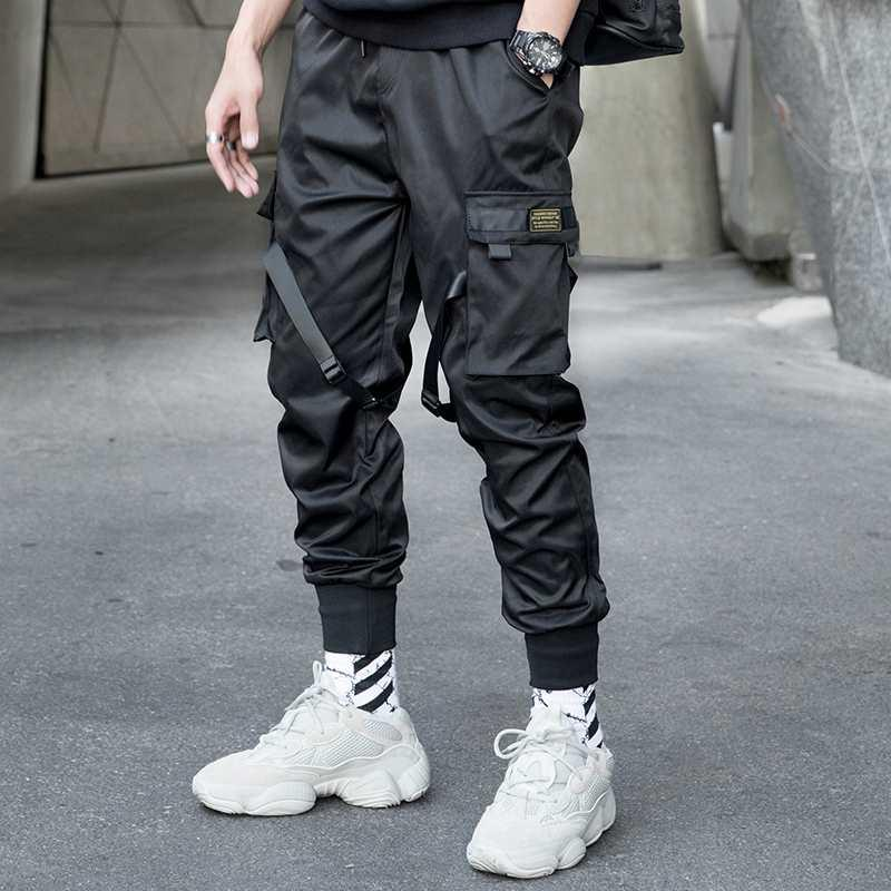 Compre Hombres Cintas Multibolsillos Diseno Pantalones Harem Hombres Streetwear Punk Hip Hop Pantalones Casuales Joggers Pantalones De Baile Para Hombre Negro Wa144 A 29 57 Del Blueberry15 Dhgate Com