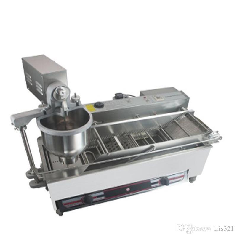 صف مزدوج التجاري صانع دونات القلي الكهربائية دونات صغيرة الانتاج الآلي آلة صنع الخبز