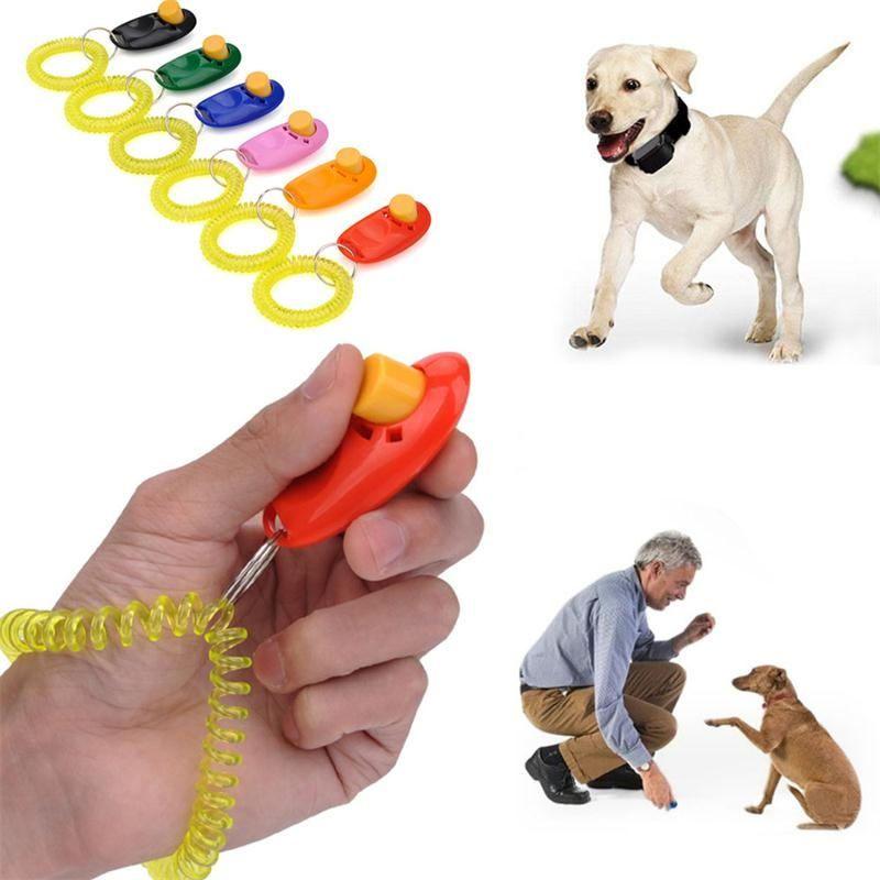 FUVOYA Entrenador de Mascotas Clicker Entrenamiento Perros Entrenamiento Perros Perro Mascota Entrenamiento
