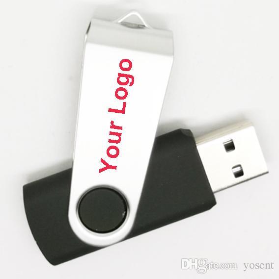 Custom company logo rotating degree wood USB 2.0 Flash Memory stick Pen drive