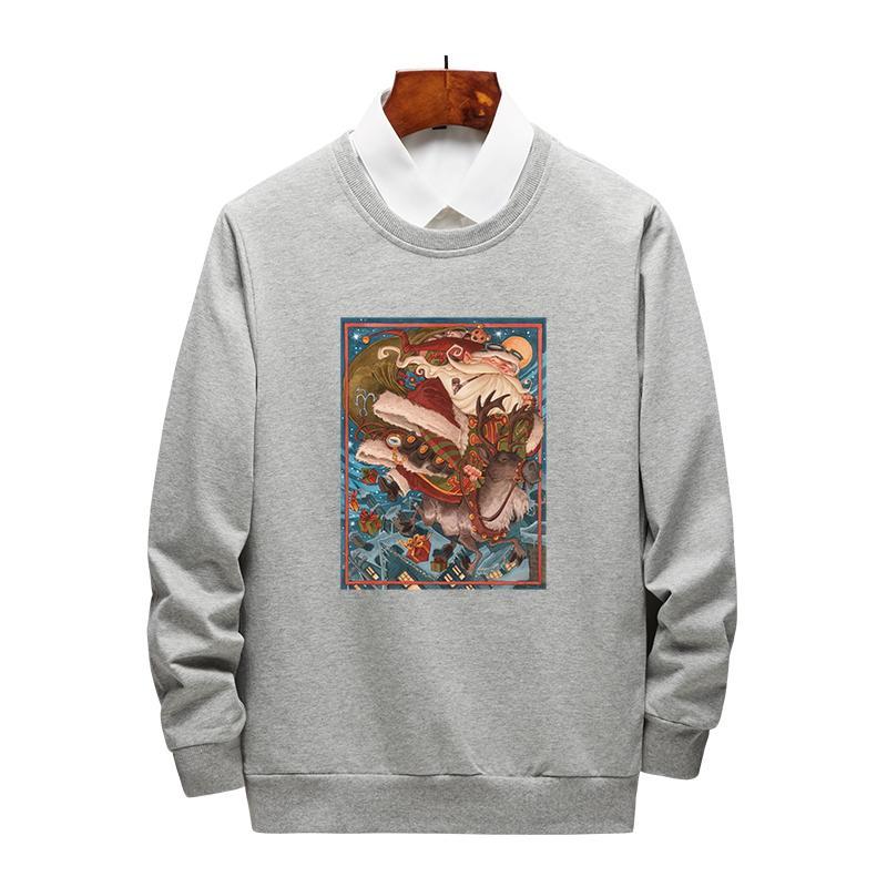 Primavera del progettista del Mens magliette felpate di Natale per gli uomini Uomini Donne Felpe con cappuccio Pullover di lusso Tops Abbigliamento M-4XL opzionale