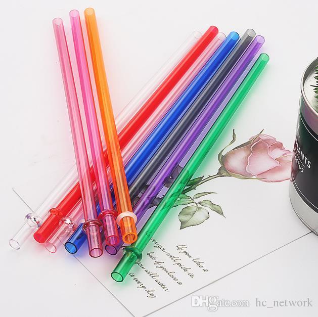 230 * 7MM AS البلاستيك القش لون نقي على التوالي الشرب القش البيئية عيد ميلاد الحزب الديكور قابلة لإعادة الاستخدام القش تسليم بسرعة