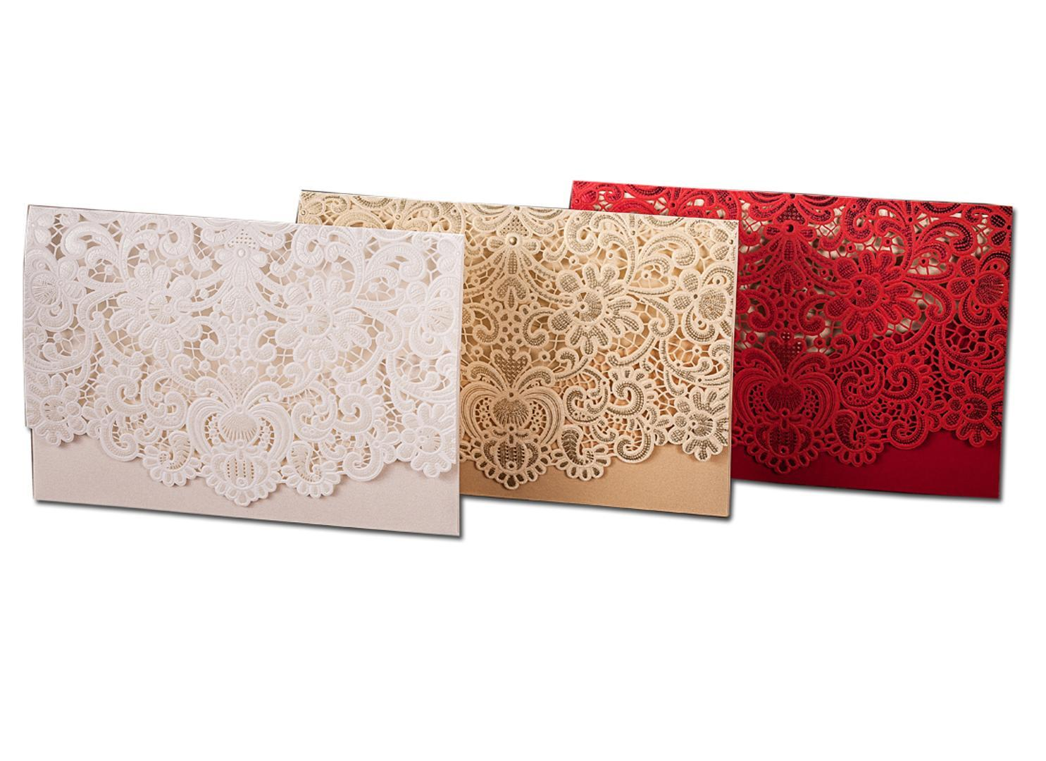 Gold White Red Laser Cut Wedding Invitations With Envelopes Blank Invitation Card Paper For Wedding Marriage Free Greeting Cards Online Free