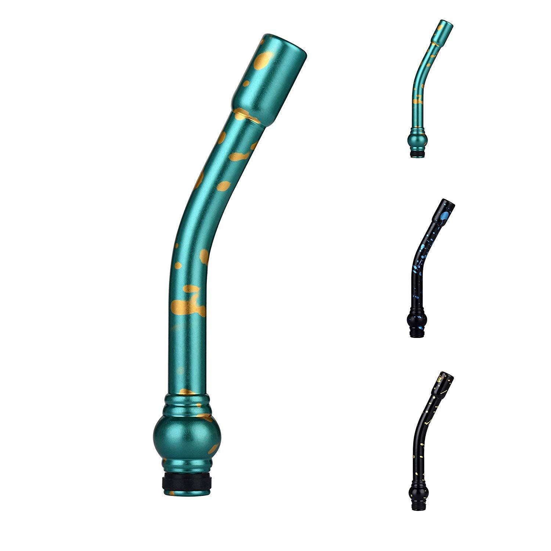 폭풍우 전자 곡선 담배 파이프 Vaping 장치를위한 긴 구부러진 E- 파이프 510 Drip Tip 마우스 피스 | 알루미늄 합금 1241