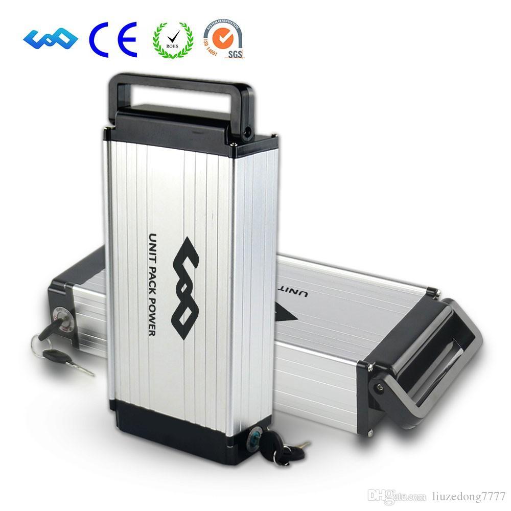 US EU AU Pas de taxe Vélo électrique Porte-bagages arrière Batterie 48V 14Ah Batteries Ion Lithium-ion avec chargeur compatible Bafang BBS02 BBSHD Moteur