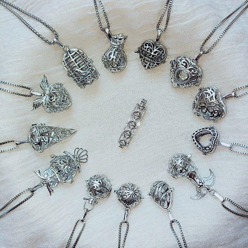Magie Lockte Ätherisches Öl Halskette Mode Frau Duft-Diffusor-Anhänger-Charme-Halskette Dame Schmuck-Partei-Geschenk TTA1528