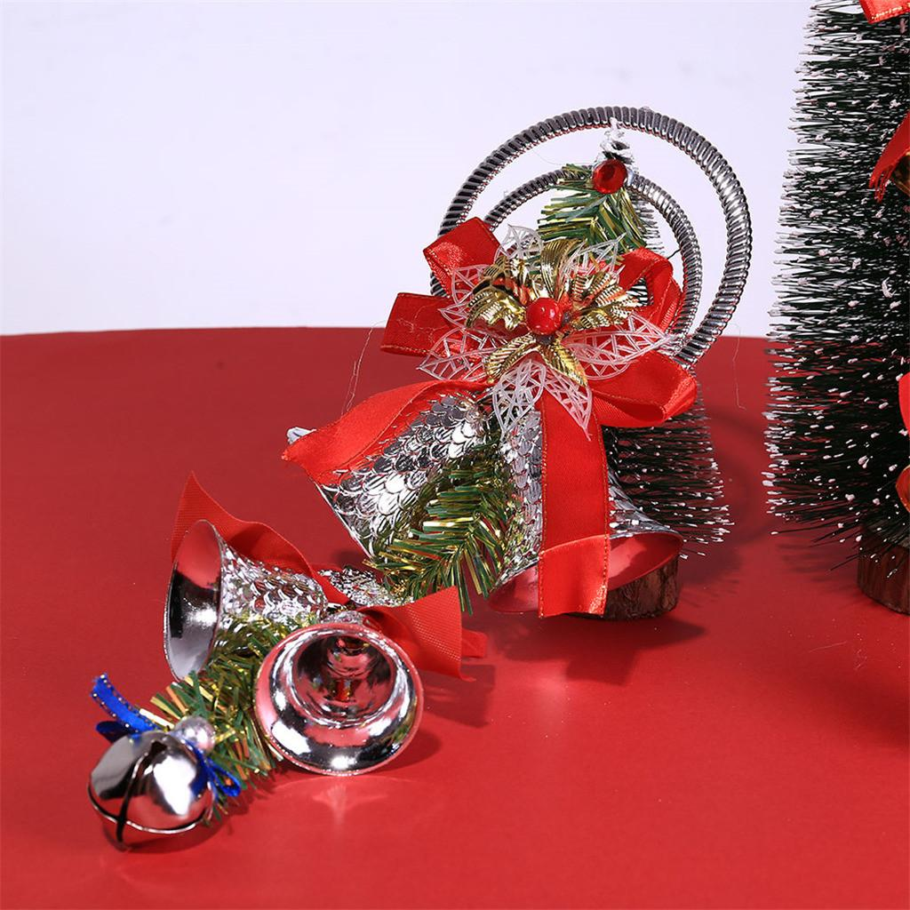 1pc Navidad Bell Decortive pendiente del árbol de navidad que cuelgan de Bell del ornamento Party Decor Home decortion regalo de DIY Crafts