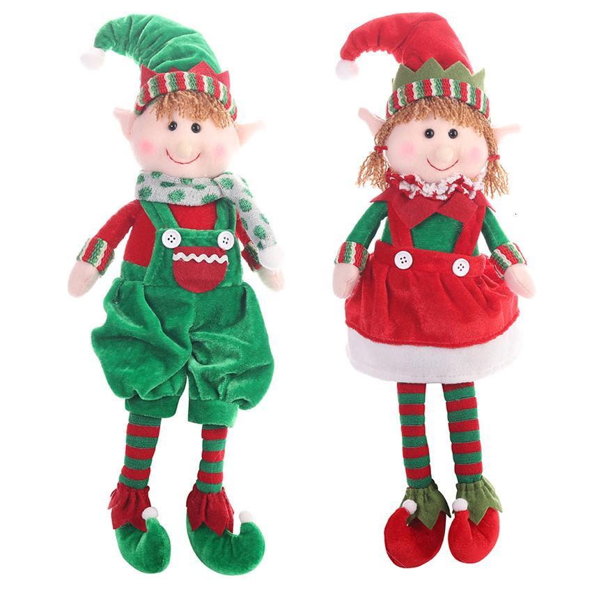 Nouveaux Noël Elf poupée jouets pour la maison Décorations d'anniversaire d'enfants de vacances Table Décoration de Noël Hanging Ornement cadeau Jouets enfants Y191030