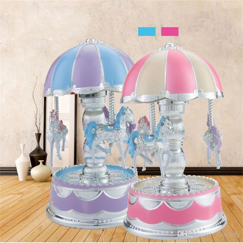 Romantic music box light dome carousel music box Creative music box home decoration gift