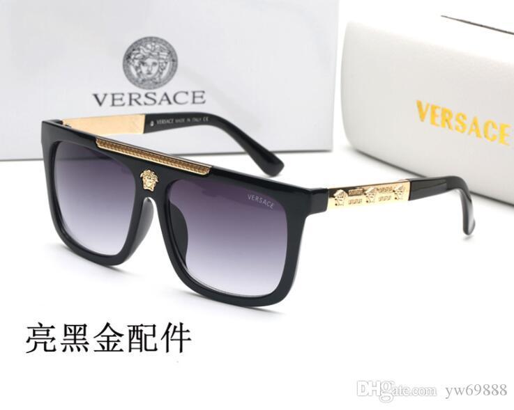 السفينة حرة دليل نظارات شمس خمر الرجعية الرجال النظارات الشمسية مصمم النظارات الشمسية لامعة الذهب الإطار أعلى جودة 97393